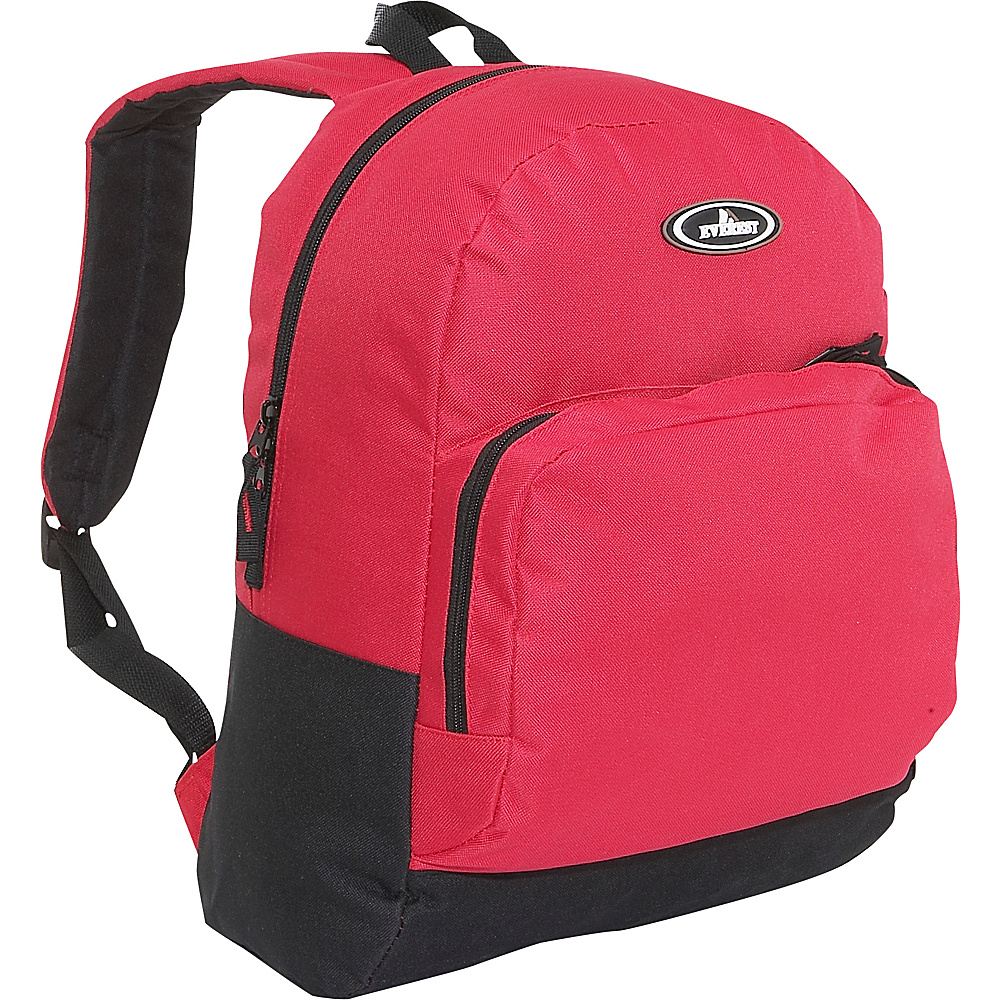 Everest Classic Backpack with Organizer - Red/Black - Backpacks, Everyday Backpacks