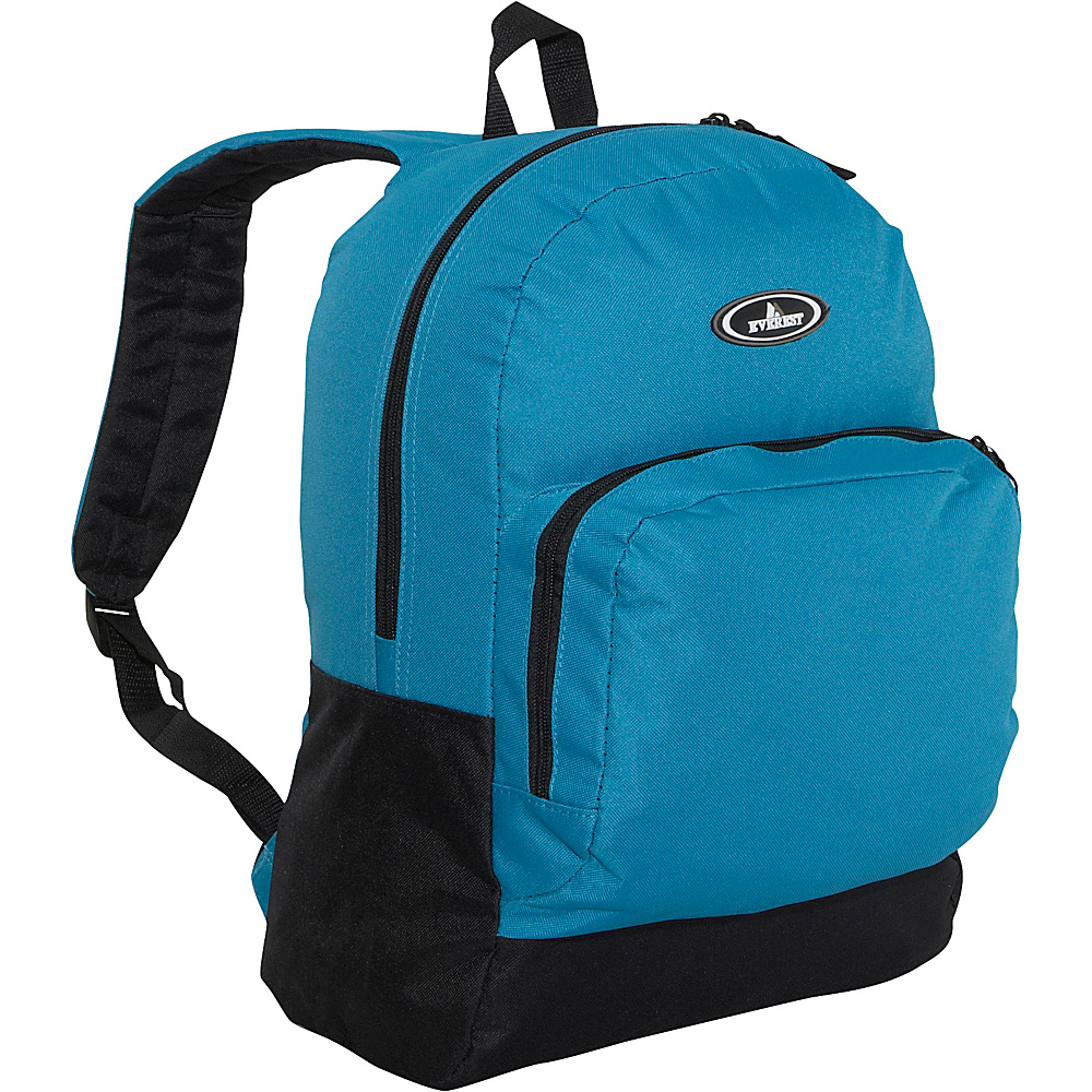 Everest Classic Backpack with Organizer - Turquoise / - Backpacks, Everyday Backpacks