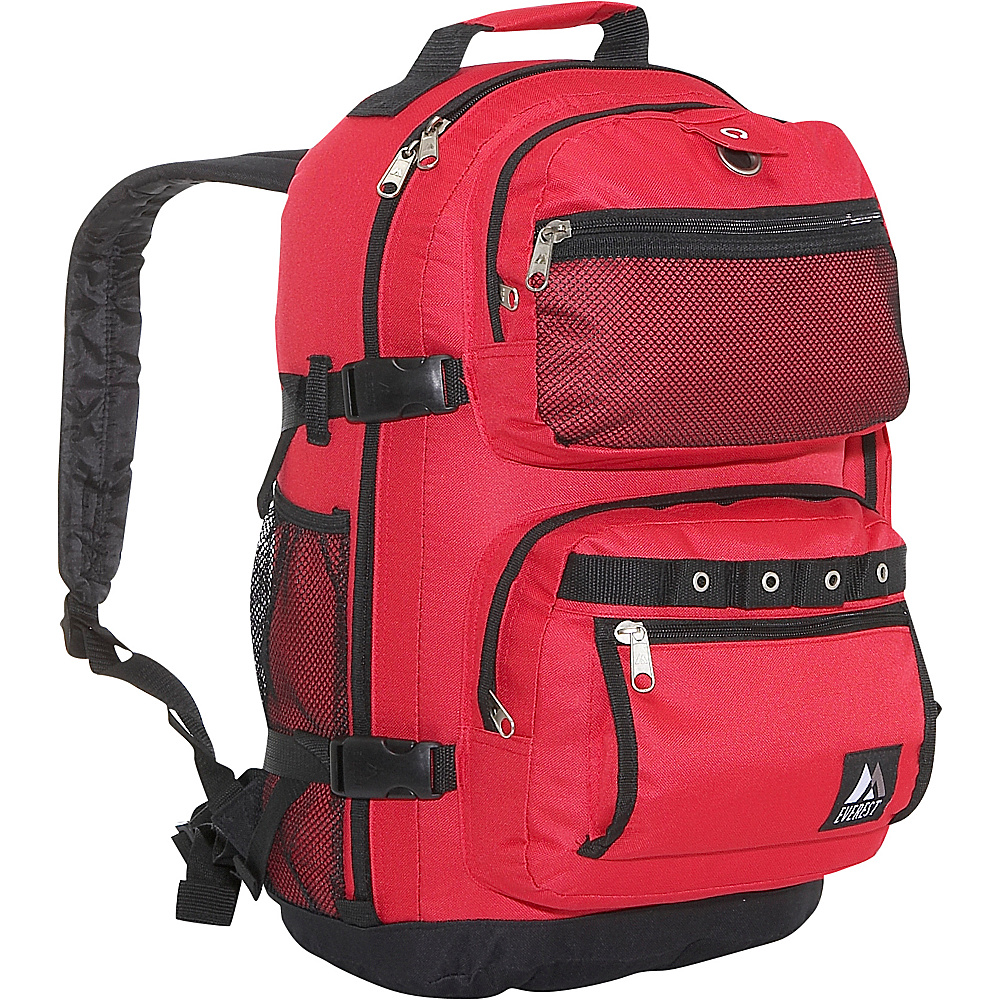 Everest Oversized Deluxe Backpack - Red/Black - Backpacks, Everyday Backpacks