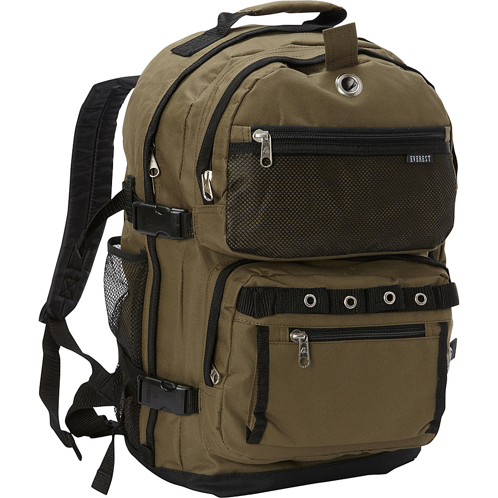 Everest Oversized Deluxe Backpack Olive/Black - Everest Everyday Backpacks - Backpacks, Everyday Backpacks