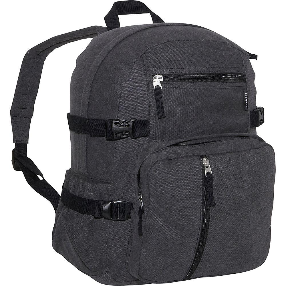 Everest Cotton Canvas Medium Backpack - Charcoal - Backpacks, Everyday Backpacks