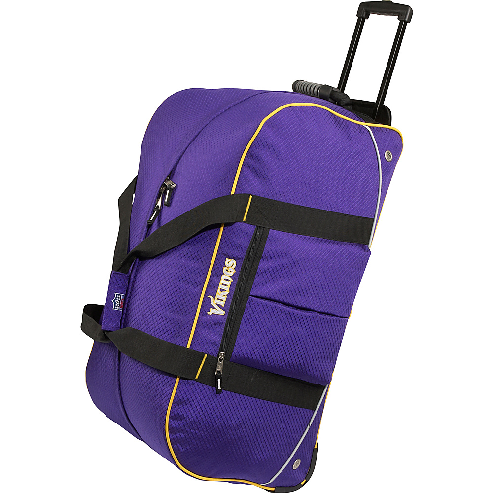 Athalon Minnesota Vikings NFL 24 Wheeling Duffel Bag