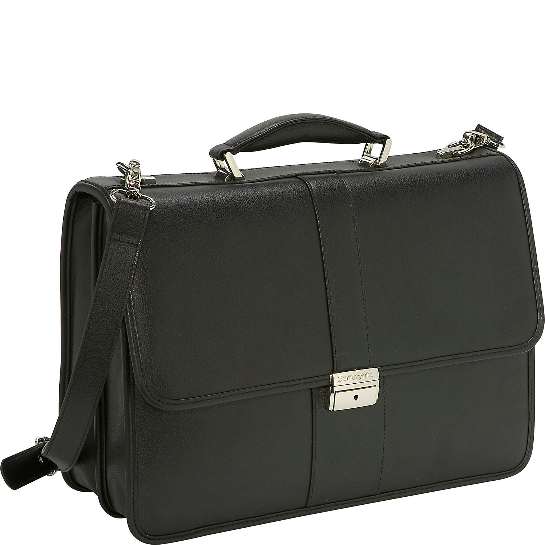 Samsonite Leather Flapover Briefcase - eBags.com