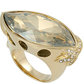 Oval Topaz Ring Size 7 Rose Gold