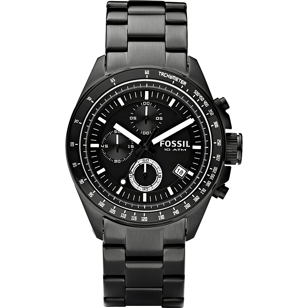 Fossil Fossil Men s Stainless Steel Chronograph Black