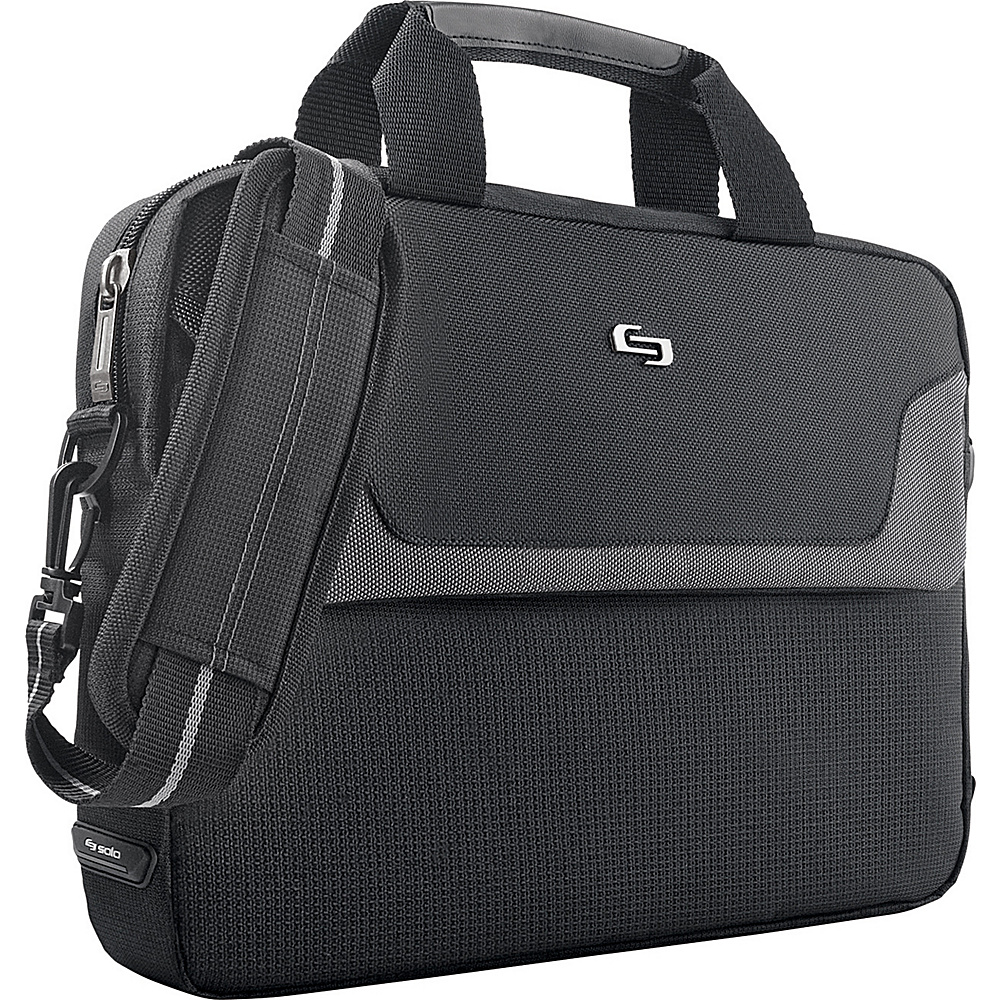 SOLO Classic - Laptop Slim Brief - Black - Work Bags & Briefcases, Non-Wheeled Business Cases