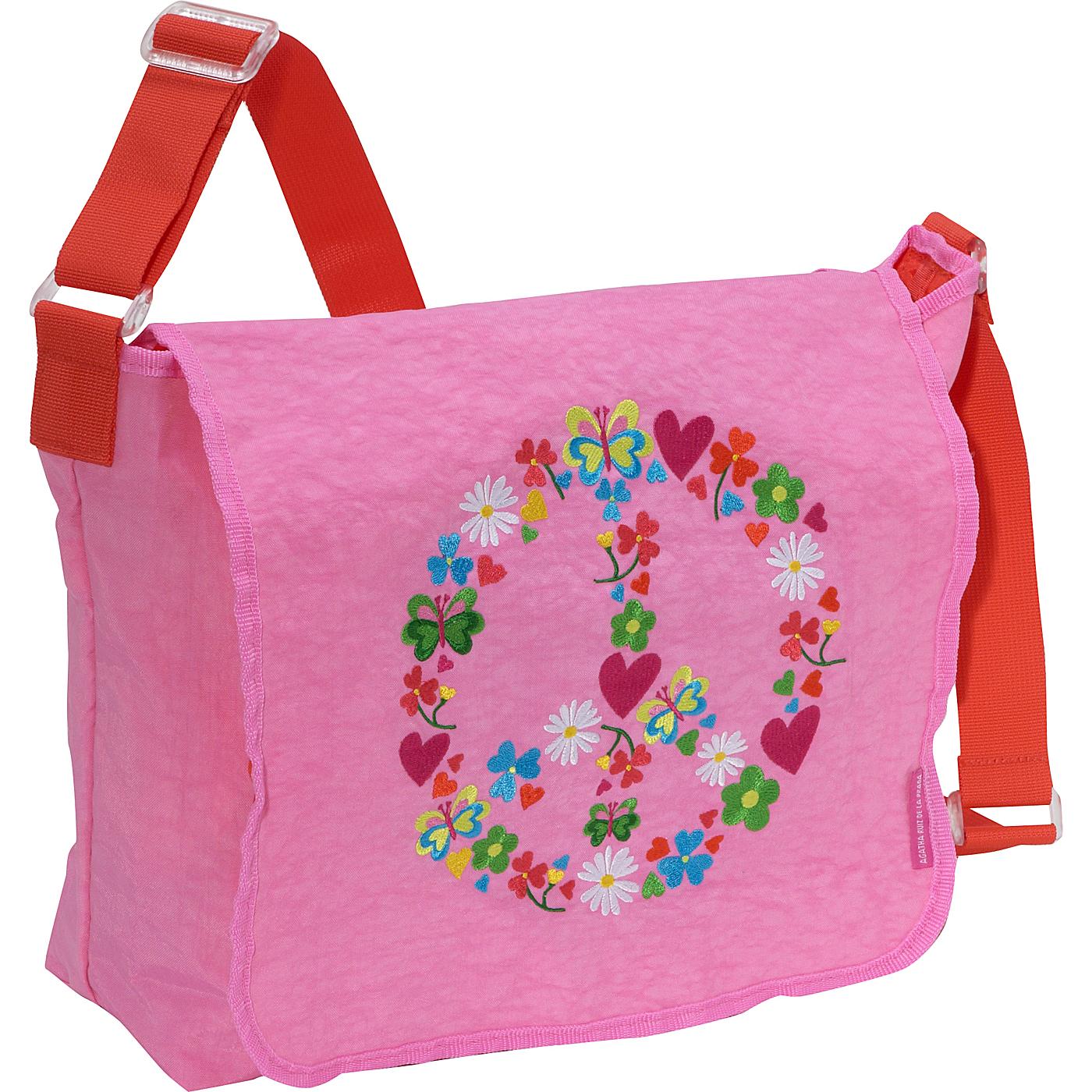 2767650d4e Miquelrius Agatha Ruiz de la Prada Peace   Love Pink Messenger Bag ...