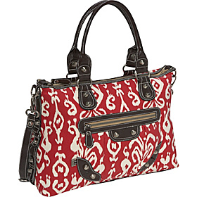 Ikat Tote Red/Off White