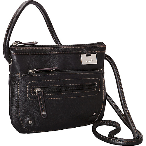 Tignanello Zip Top Cross Body Organizer - Black