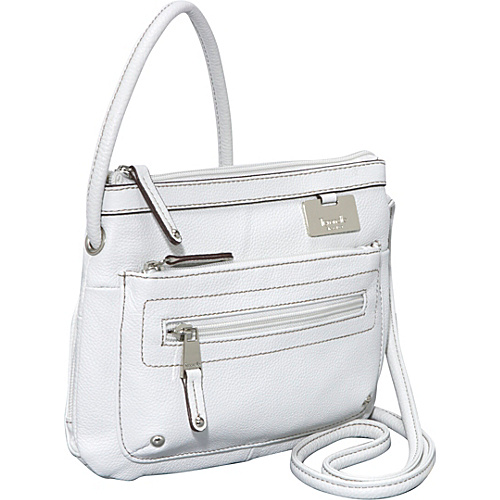 Tignanello Zip Top Cross Body Organizer - White