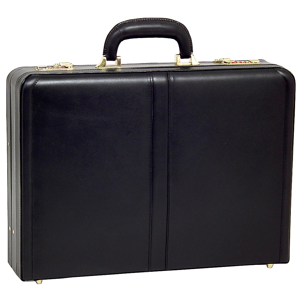McKlein USA Harper Leather Expandable Attache Case - Work Bags & Briefcases, Non-Wheeled Business Cases