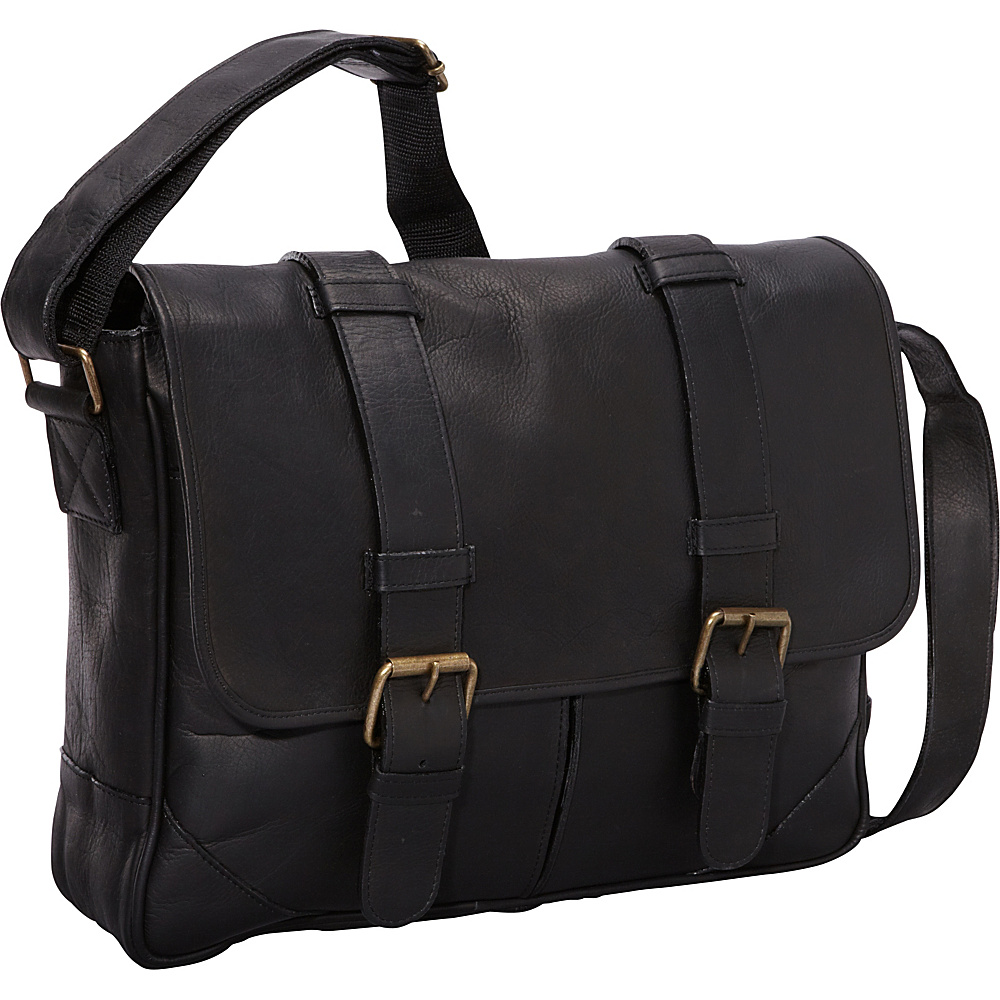 ClaireChase Sorrento Laptop Messenger - Black - Work Bags & Briefcases, Messenger Bags