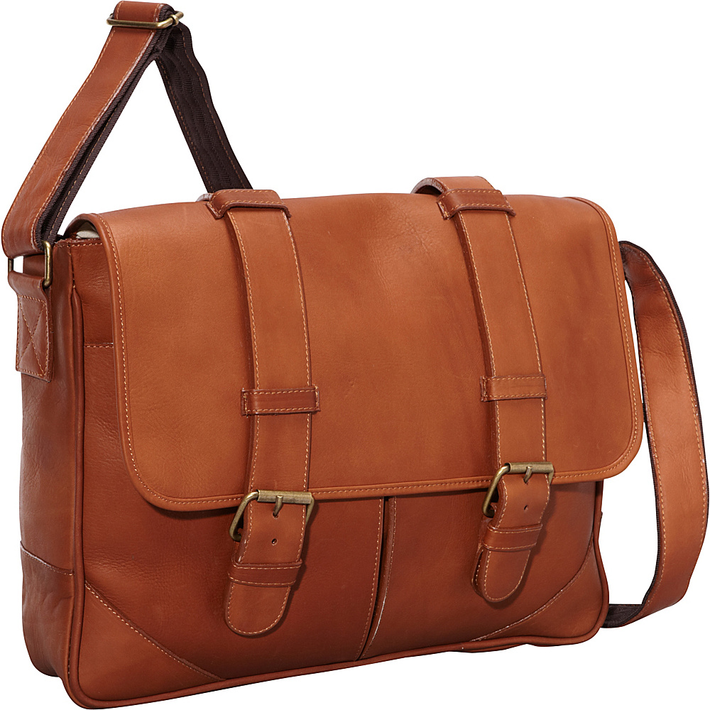 ClaireChase Sorrento Laptop Messenger - Saddle - Work Bags & Briefcases, Messenger Bags
