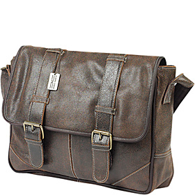 Sorrento Laptop Messenger Distressed Brown