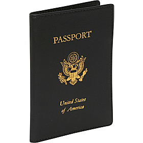 Foil Stamped RFID Blocking Passport Jacket Black