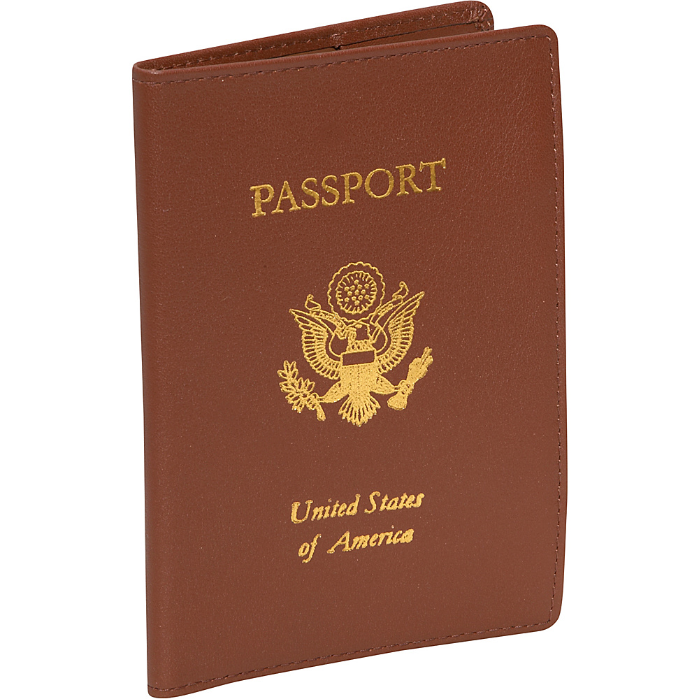 Royce Leather Foil Stamped RFID Blocking Passport