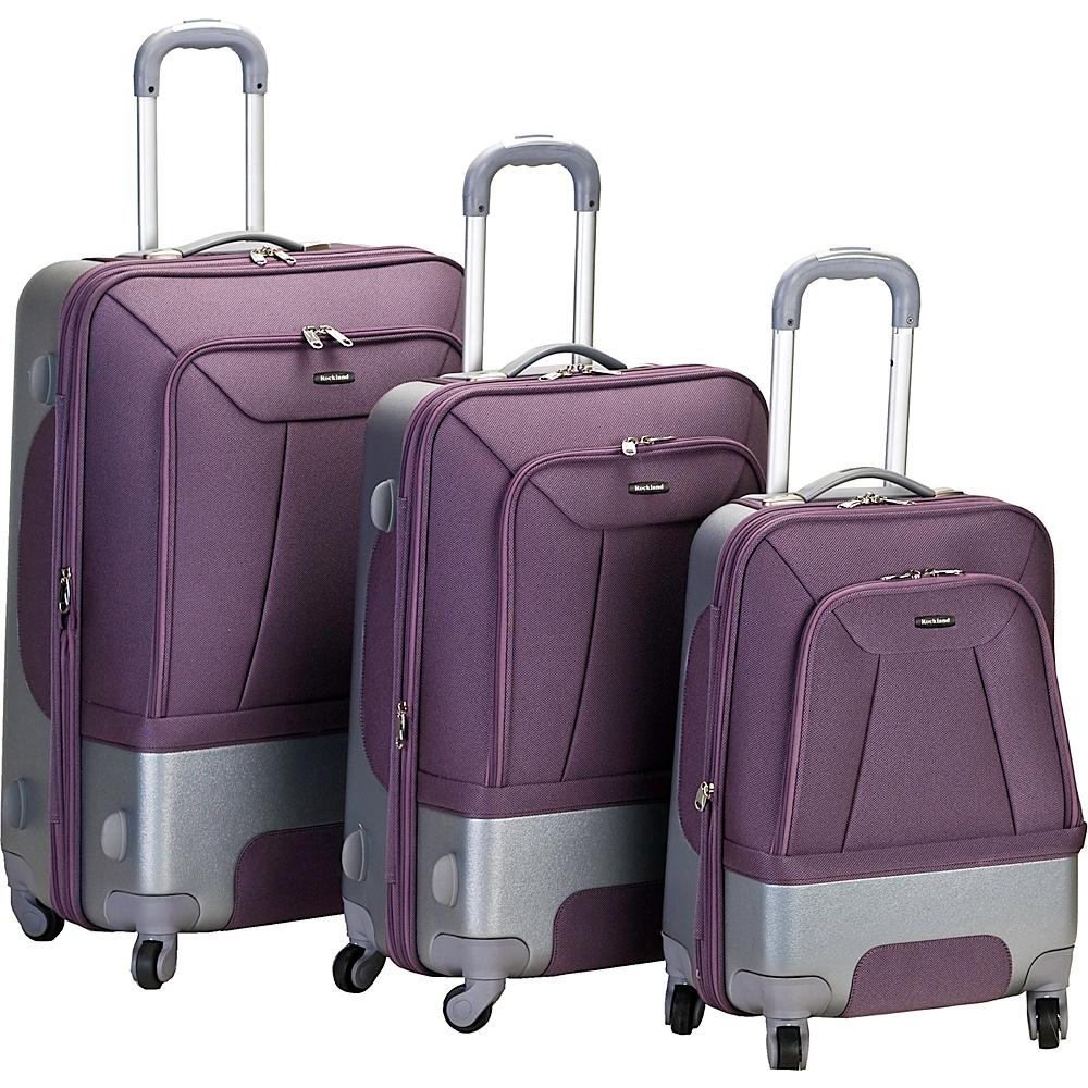 Rockland Luggage 3 Piece Rome Hybrid Luggage Set - Luggage, Luggage Sets