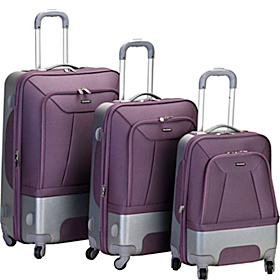 3 Piece Rome Hybrid Luggage Set Lavender