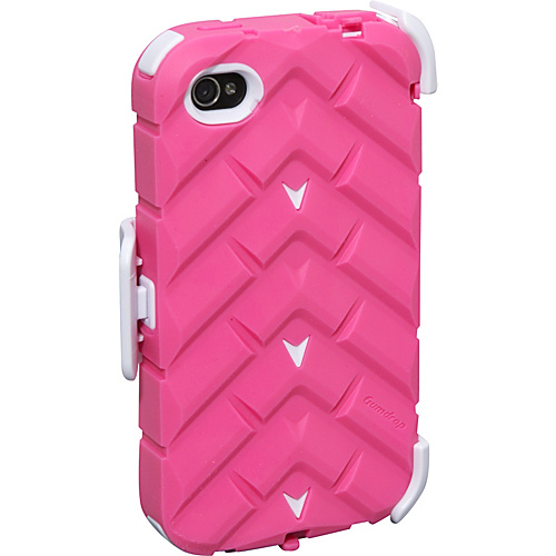 Gumdrop Drop Series Apple iPhone 4 Case Pink-White - Gumdrop Personal Electronic Cases