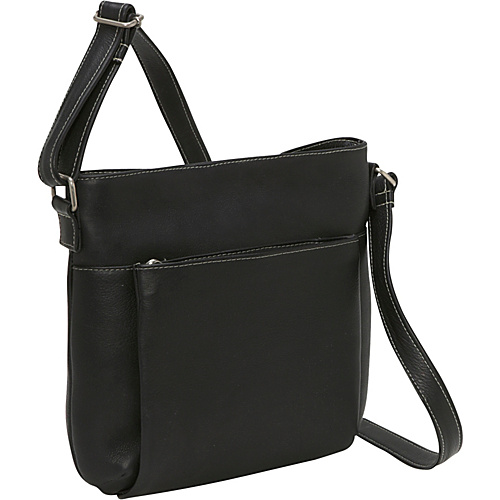 Le Donne Leather Cross Body Town Bag - Black