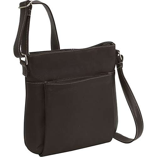Le Donne Leather Cross Body Town Bag - Caf