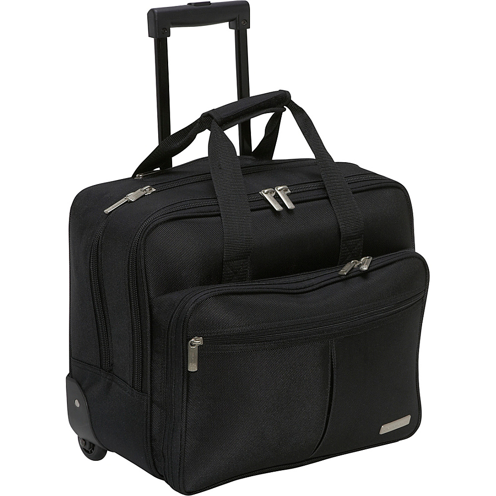 Geoffrey Beene Luggage Rolling Business Case - Black - Work Bags & Briefcases, Wheeled Business Cases