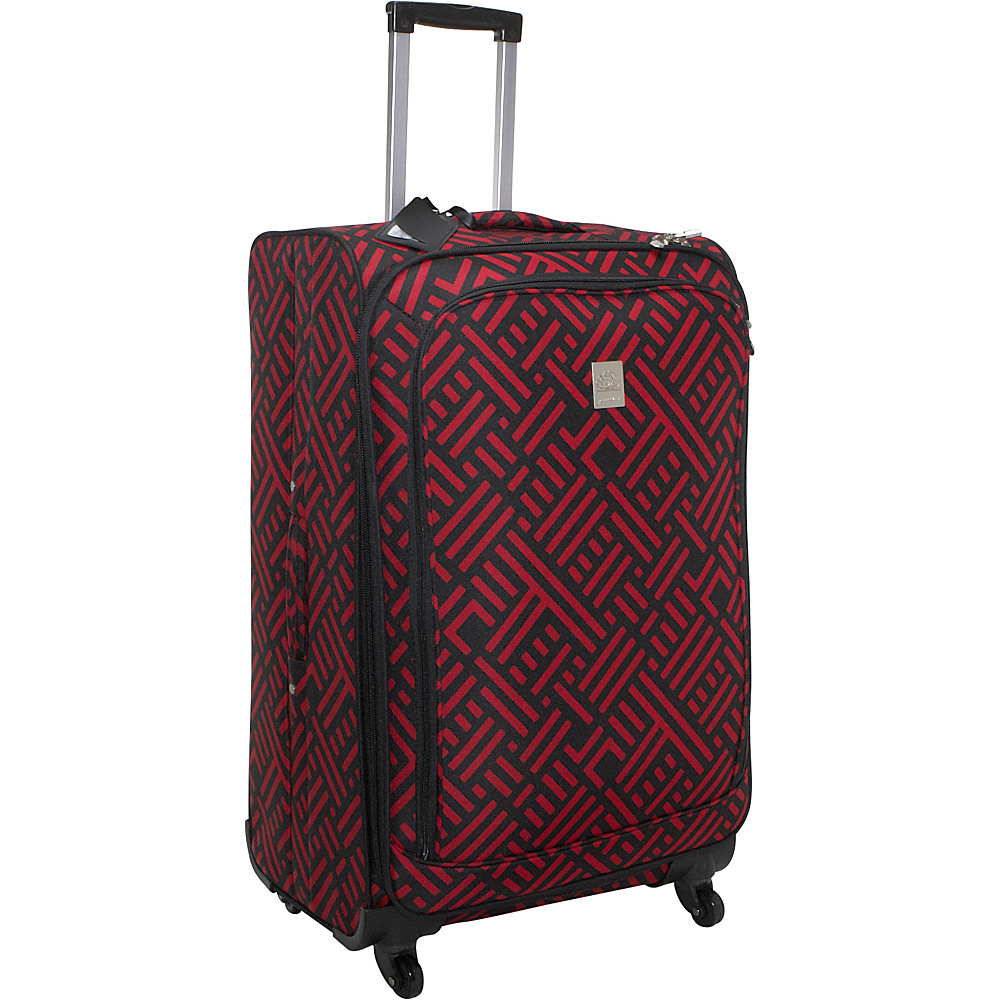 Jenni Chan Signature 28 Spinner - Black and Red - Luggage, Softside Checked