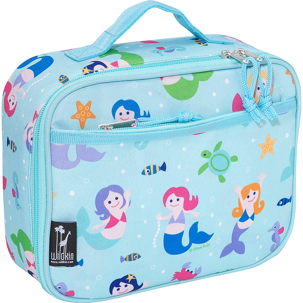 Wildkin Mermaids New Lunch Box - Olive Kids Mermaids - Travel Accessories, Travel Coolers