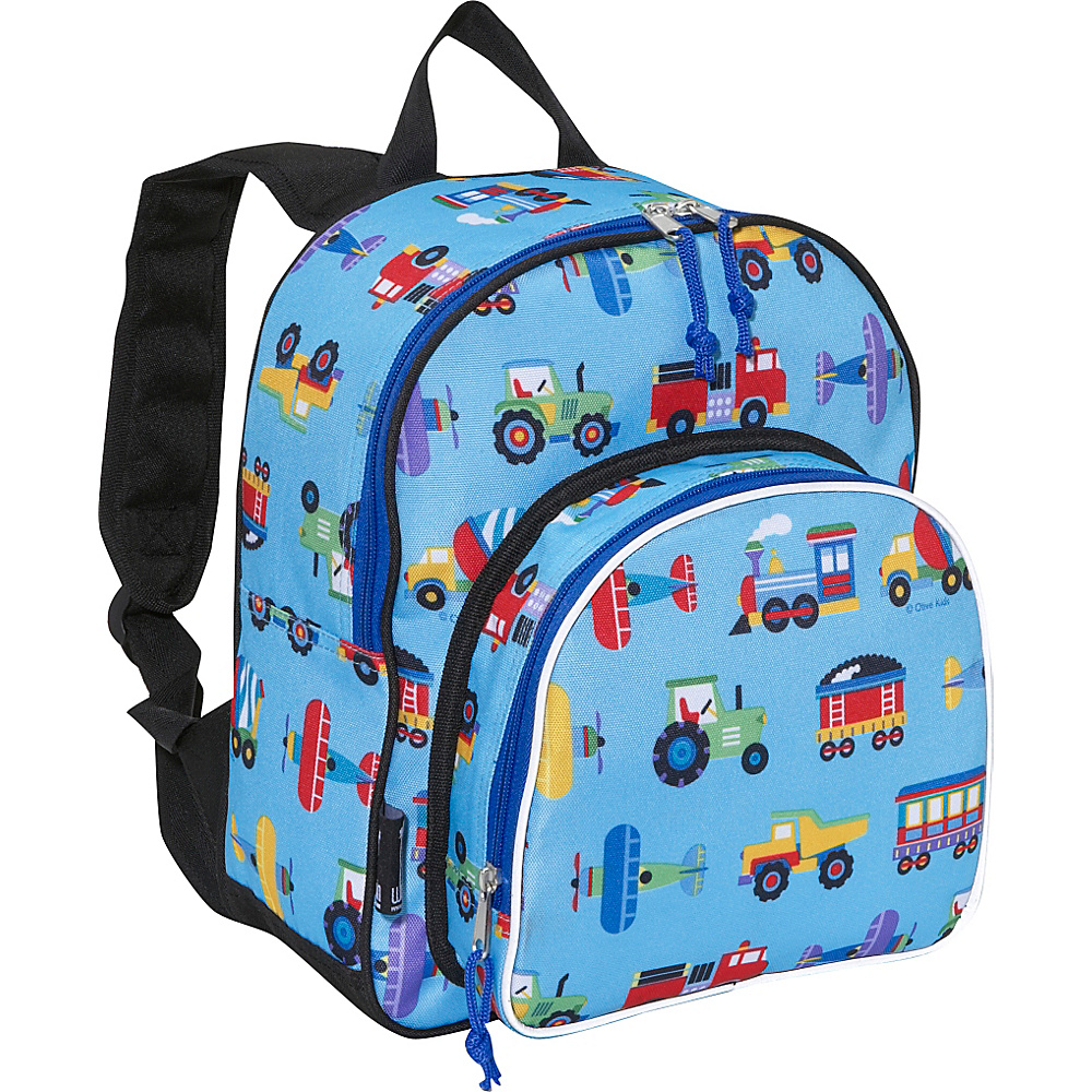 Wildkin Olive Kids Trains,  Planes & Trucks 12 Inch Backpack Trains Planes Trucks - Wildkin Everyday Backpacks