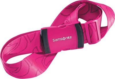 Samsonite Travel Accessories Luggage Strap Neon Pink - Samsonite Travel Accessories Luggage Accessories