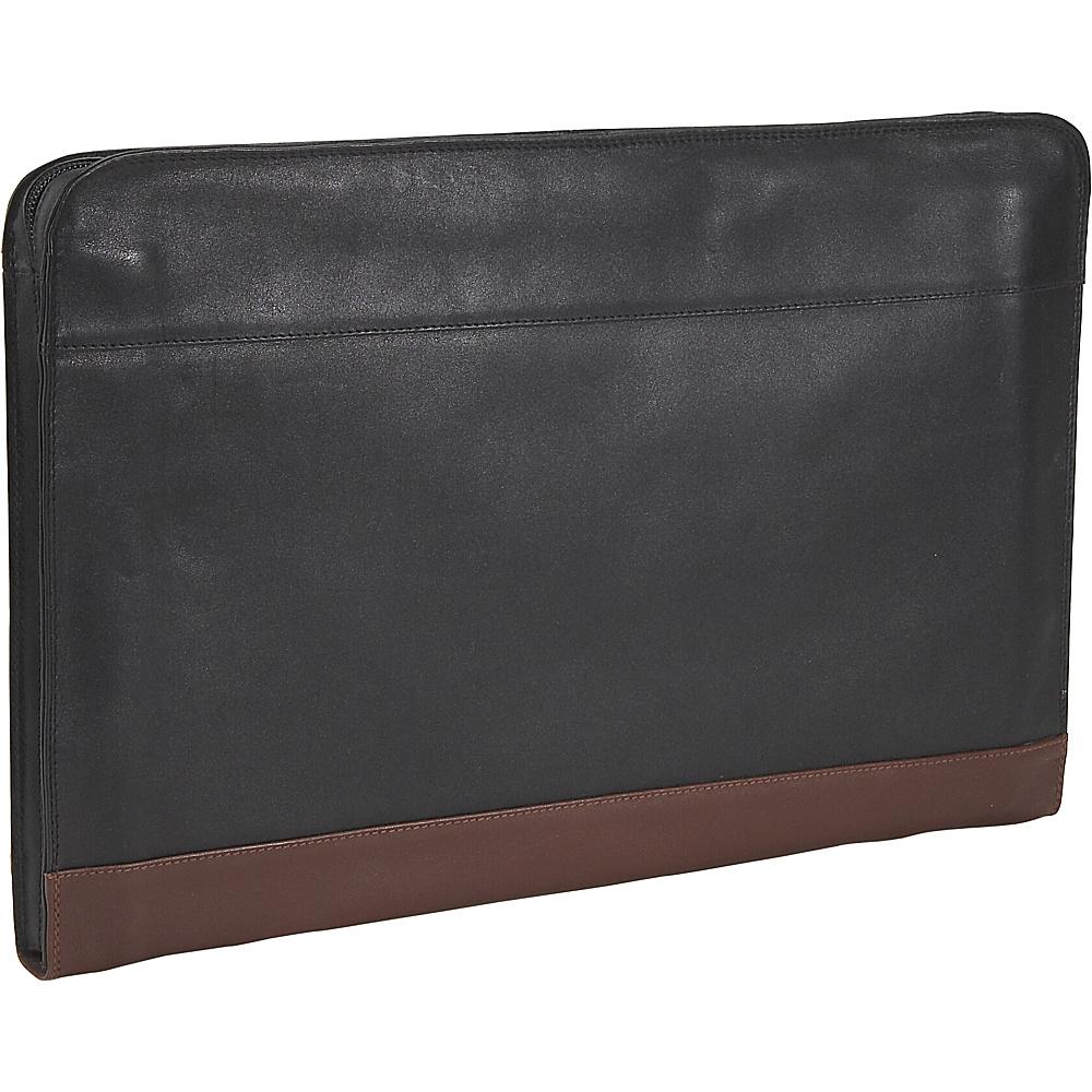 Derek Alexander Underarm Folio - Black and Brandy - Work Bags & Briefcases, Business Accessories