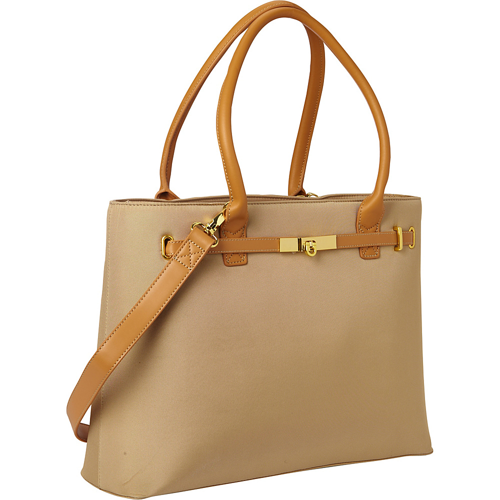 Women In Business Thoroughbred Laptop Tote - Tan - Work Bags & Briefcases, Women's Business Bags