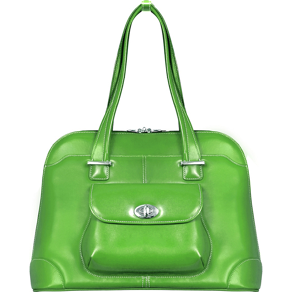 McKlein USA Avon 15 Ladies Leather Laptop Briefcase Green - McKlein USA Womens Business Bags - Work Bags & Briefcases, Women's Business Bags