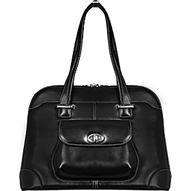 Avon - Ladies' Leather Laptop Briefcase  Black