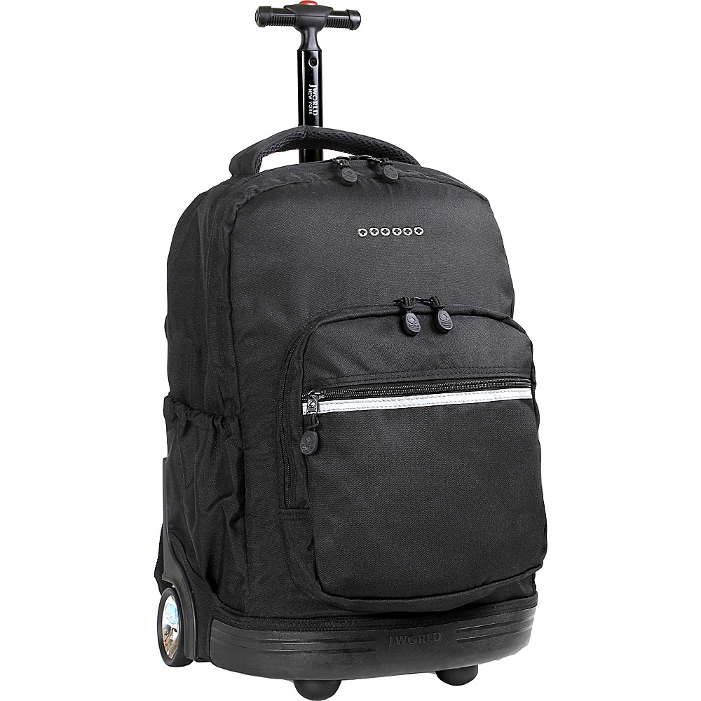 J World Sunrise Rolling Backpack - Black - Backpacks, Rolling Backpacks
