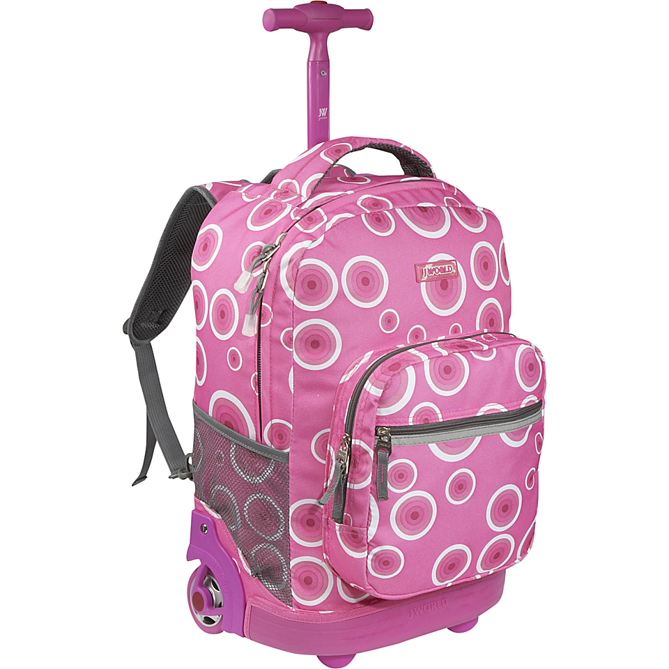 World Sunrise Rolling Backpack Pink Target