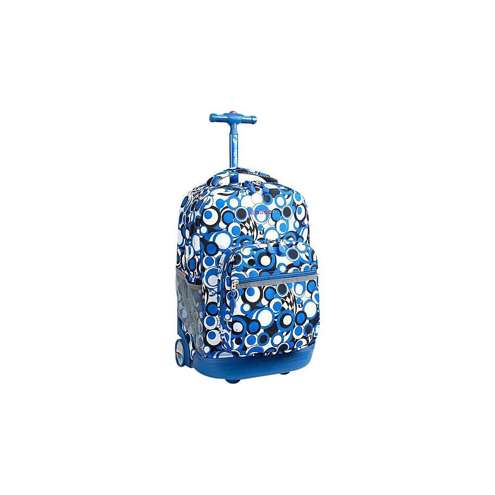 J World New York Sunrise Rolling Backpack - 18 Chess Blue - J World New York Rolling Backpacks - Backpacks, Rolling Backpacks