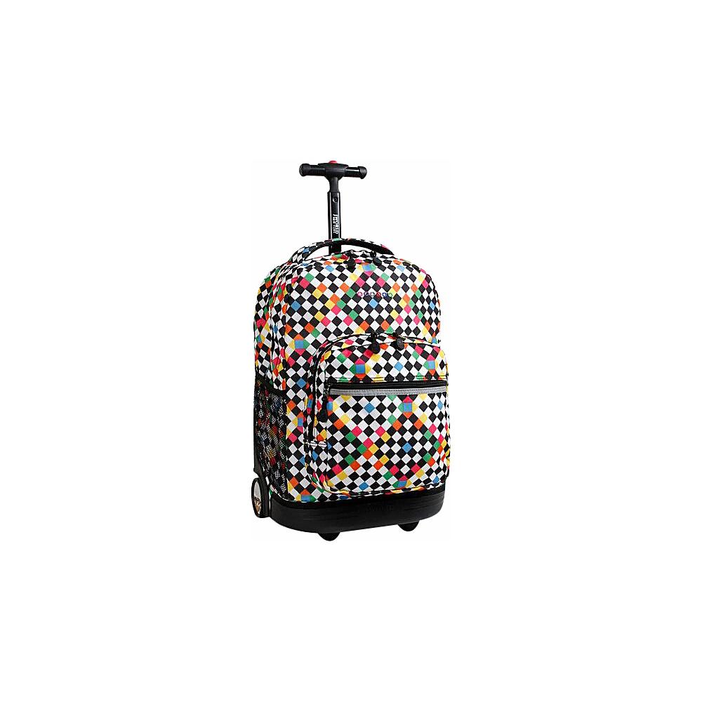 J World New York Sunrise Rolling Backpack - 18 CHECKERS - J World New York Rolling Backpacks - Backpacks, Rolling Backpacks