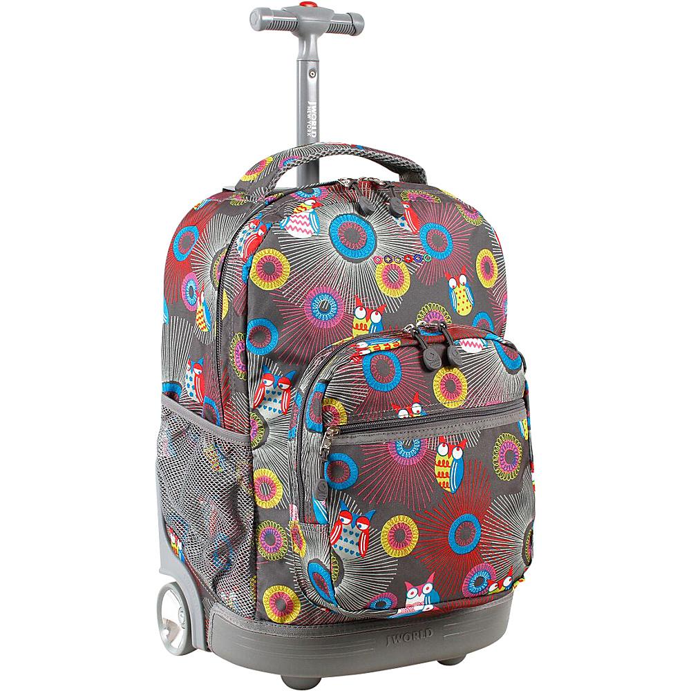 J World New York Sunrise Rolling Backpack - 18 BLAZING OWL - J World New York Rolling Backpacks - Backpacks, Rolling Backpacks