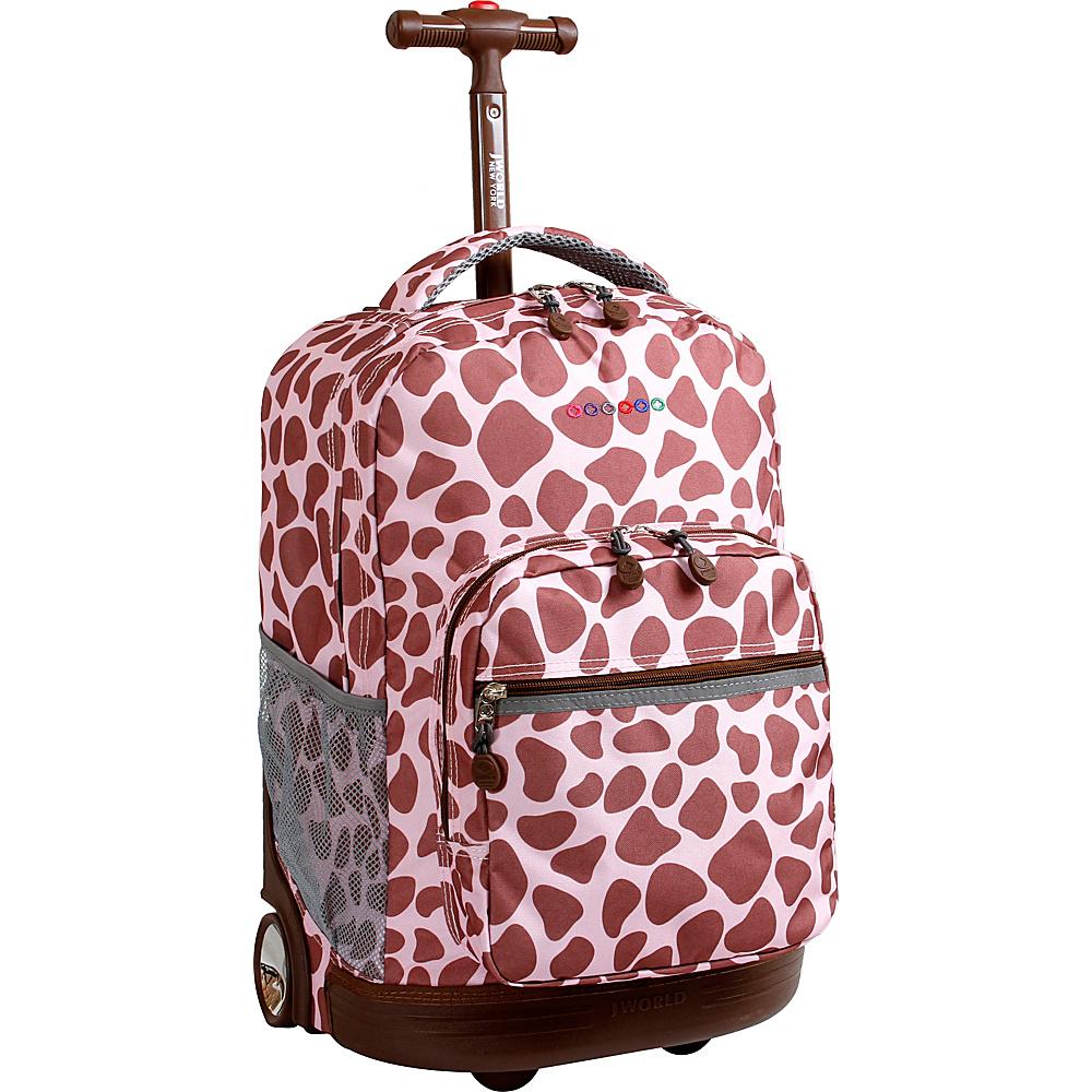 J World New York Sunrise Rolling Backpack - 18 PINK ZULU - J World New York Rolling Backpacks - Backpacks, Rolling Backpacks