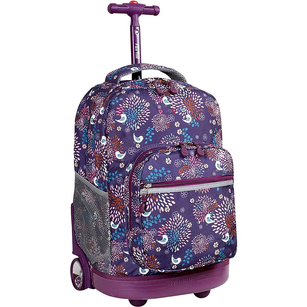 J World New York Sunrise Rolling Backpack - 18 BABY BIRDY - J World New York Rolling Backpacks - Backpacks, Rolling Backpacks