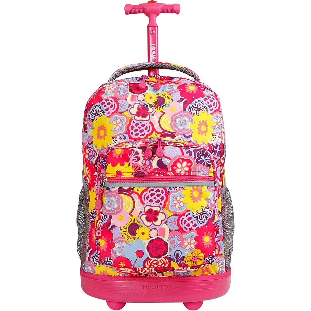 J World New York Sunrise Rolling Backpack - 18 POPPY PANSY - J World New York Rolling Backpacks - Backpacks, Rolling Backpacks