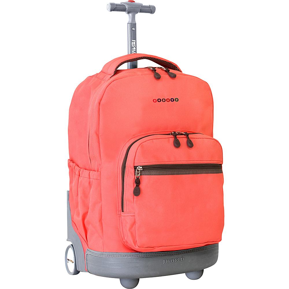 J World New York Sunrise Rolling Backpack - 18 Blush - J World New York Rolling Backpacks - Backpacks, Rolling Backpacks
