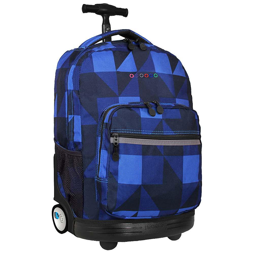 J World Sunrise Rolling Backpack - Block Navy - Backpacks, Rolling Backpacks