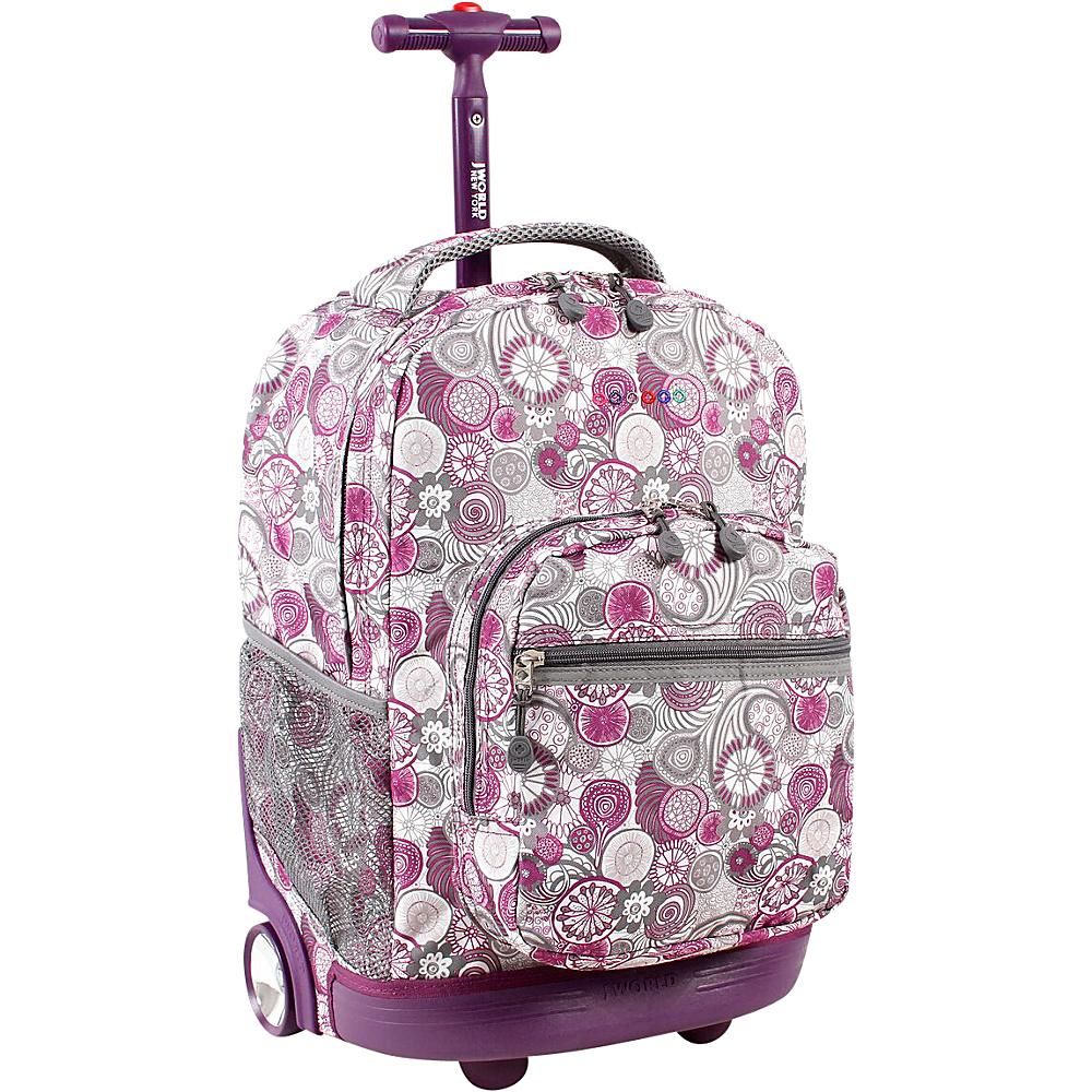 J World Sunrise Rolling Backpack - Lemon - Backpacks, Wheeled Backpacks
