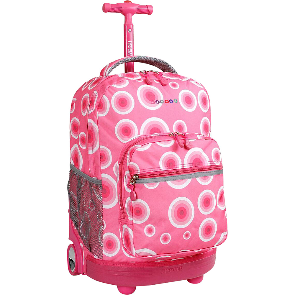 "J World New York Sunrise Rolling Backpack - 18"" Pink Target - J World New York Wheeled Backpacks"