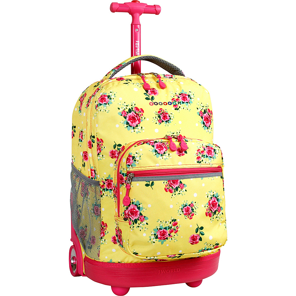 J World New York Sunrise Rolling Backpack - 18 English Rose - J World New York Rolling Backpacks - Backpacks, Rolling Backpacks