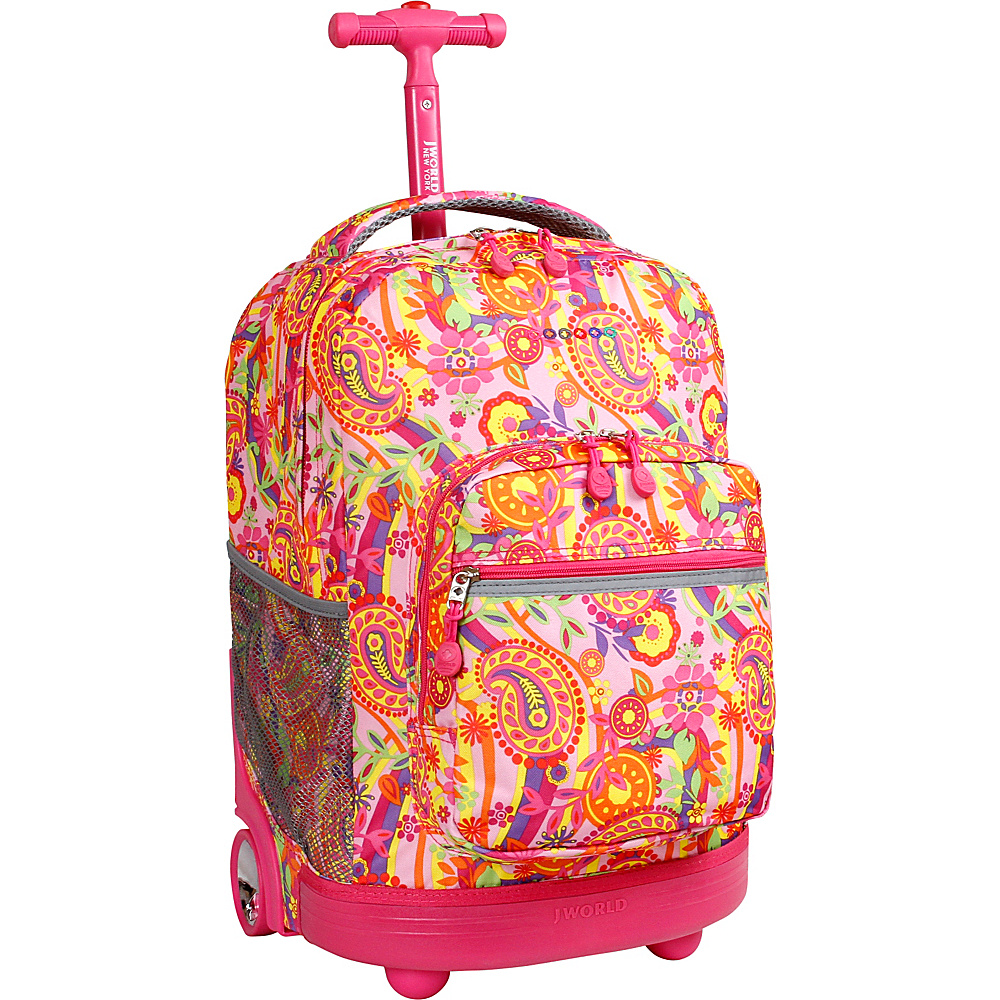 J World New York Sunrise Rolling Backpack - 18 Pink Paisley - J World New York Rolling Backpacks - Backpacks, Rolling Backpacks