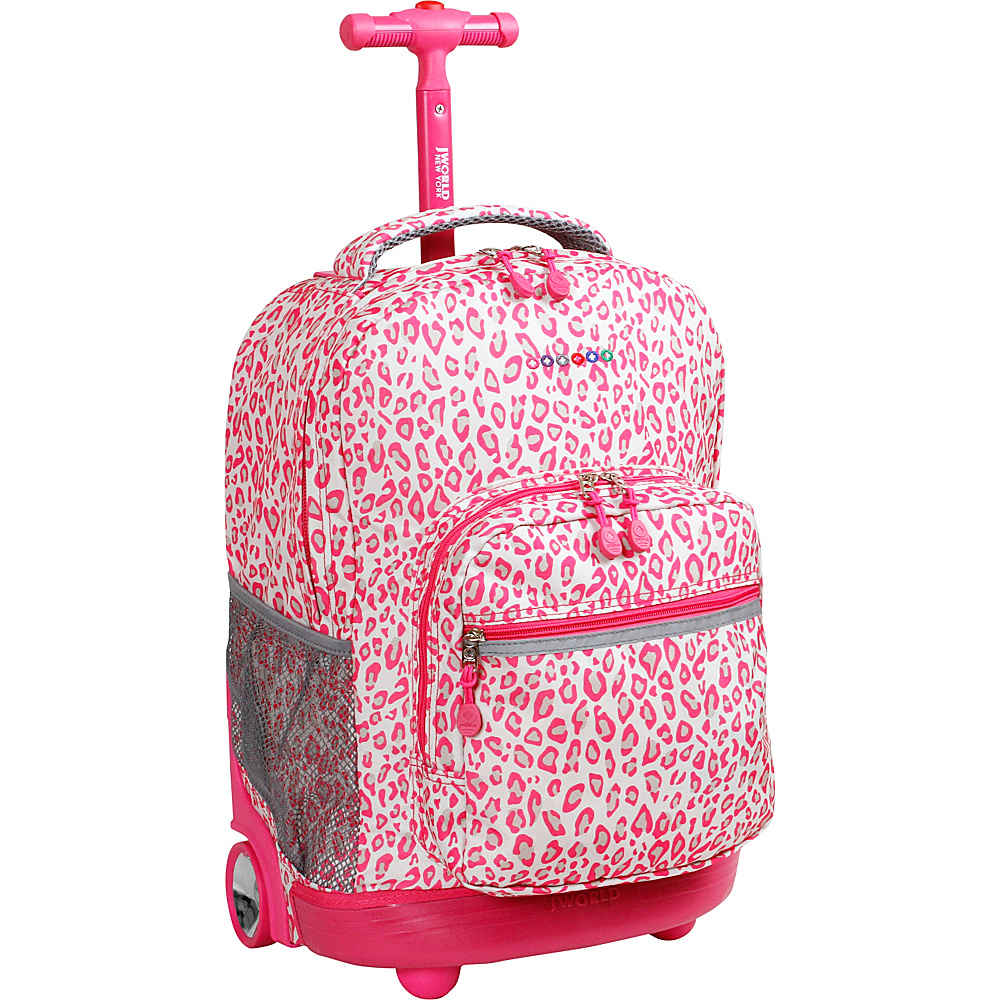 J World New York Sunrise Rolling Backpack - 18 Leopard - J World New York Rolling Backpacks - Backpacks, Rolling Backpacks