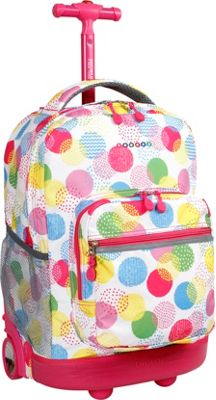 "J World New York Sunrise Rolling Backpack - 18"" 67 Colors 